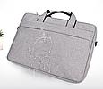 Мужская сумка портфель для документов - темно-серый, фото 10