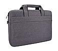 Мужская сумка портфель для документов - темно-серый, фото 2