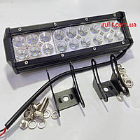 Светодиодная LED противотуманная фара ЛИДЕР (1 шт) D 54W ближнего света 230х100х65
