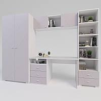 Комплект подростковой мебели Х-Скаут-26 розовый мат