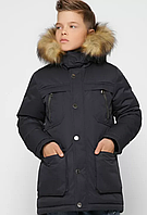 Куртка зимова з хутряною опушкою, на зростання 110-158