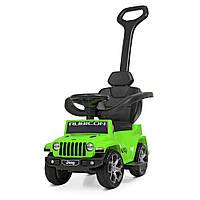 Детский электромобиль - толокар Машина 2 в 1 «Jeep» M 4247EL-5 Салатовый