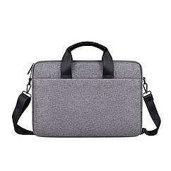 Мужская сумка портфель для документов - темно-серый
