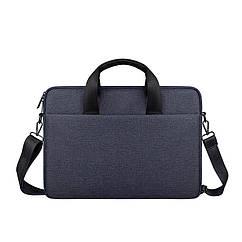 Мужская сумка портфель для документов - темно-синий