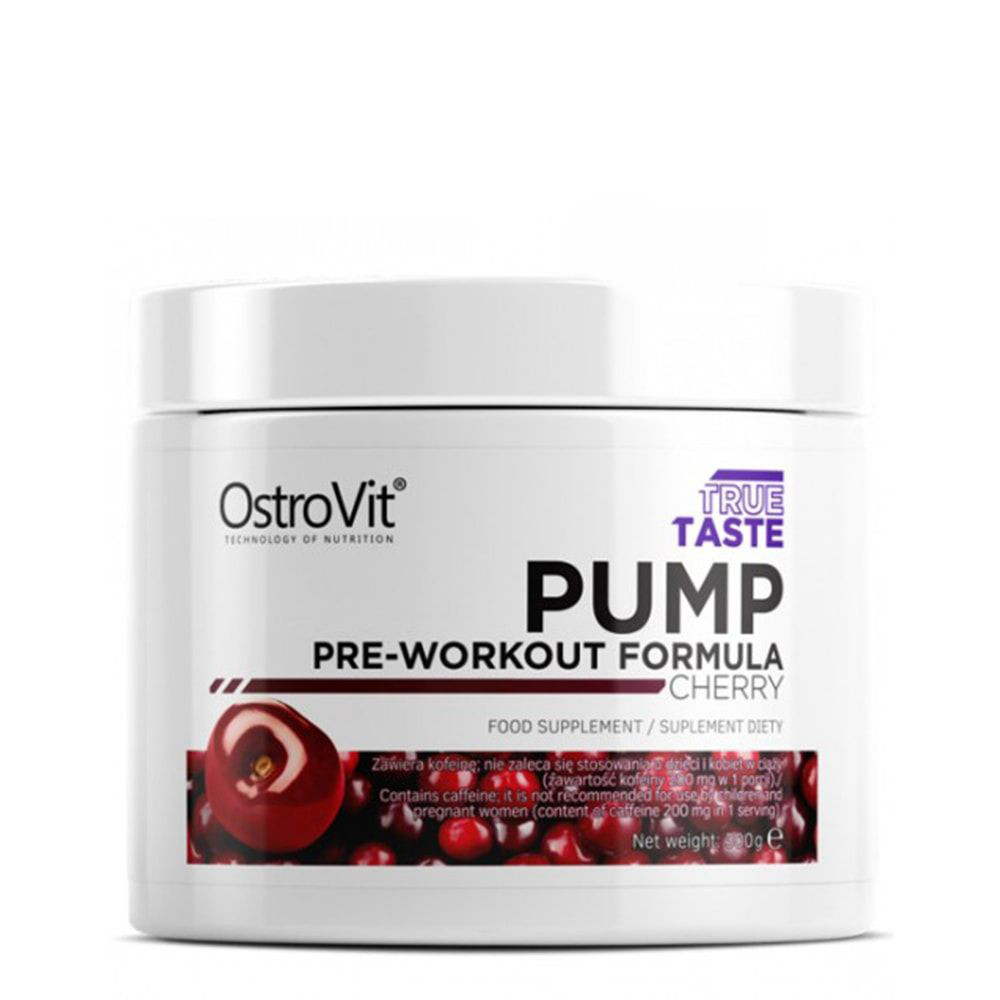Предтреник Ostrovit Pump pre-workout formula 300g. ВИШНЯ