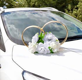 Украшение на машину, кольца пластиковые на магните с розами.