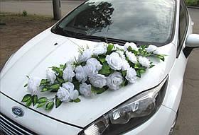 """Свадебные украшения на машину икебана панно на магнитах  """"Wedding rose"""""""