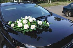 """Свадебные украшения на машину икебана айвори панно на магнитах  """"Wedding rose"""""""