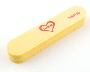 Баф маленький прямоугольник Habibi (100/180 грит), желтый цвет