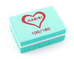 Баф маленький брусок Habibi (100/180 грит), зеленый цвет
