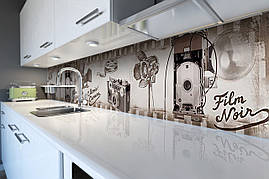 Вініловий кухонний фартух Ретро Фільм декоративна плівка наклейка скіналі ПВХ камера плівка Сірий 600*2500 мм