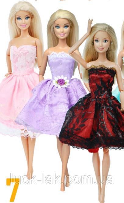Набор одежды 3 платья (как на фото) для куклы Барби, шарнирной куклы