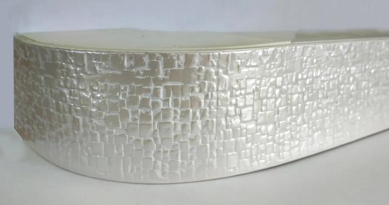 Декоративная лента на потолочный карниз, Бленда Кайман 100  Жемчужный  КСМ 68мм