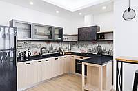 Виниловый кухонный фартук Будапешт (декоративная пленка наклейка скинали ПВХ) винтаж ретро город карандаш Серый 600*2500 мм, фото 1