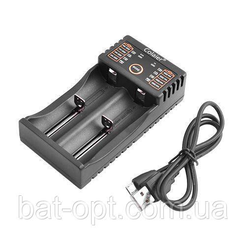 Зарядное устройство для аккумуляторов C20 универсальное, 2x14500/16340/18650/26650 USB