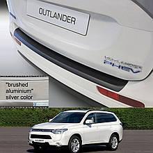 Mitsubishi Outlander 2012-2015 пластикова захисна накладка заднього бампера