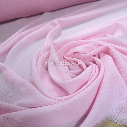 Тканина креп-шифон бабл рожевий, фото 2