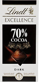 Lindt 70 % какао Чёрный Швейцарский шоколад