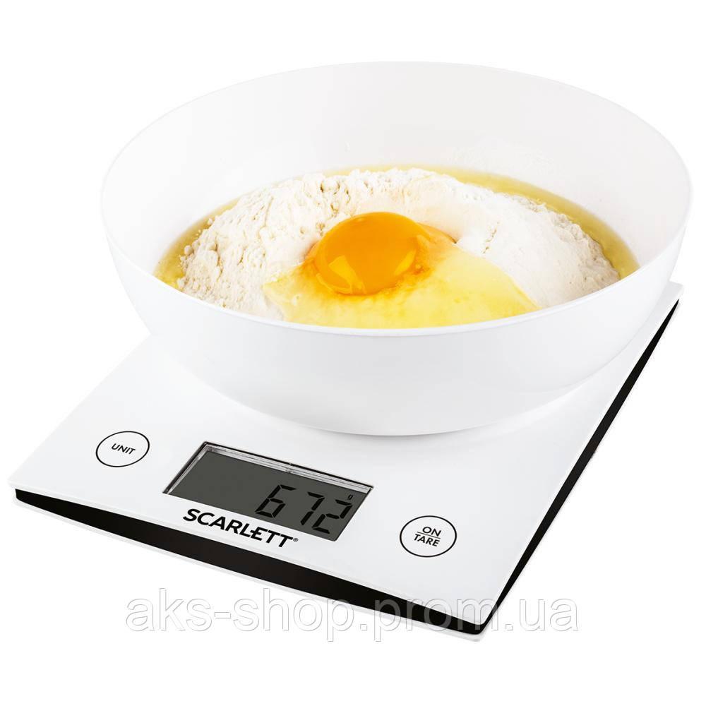 Весы кухонные электронные Scarlett SC-KS57B10 вес до 5 кг точность до 1