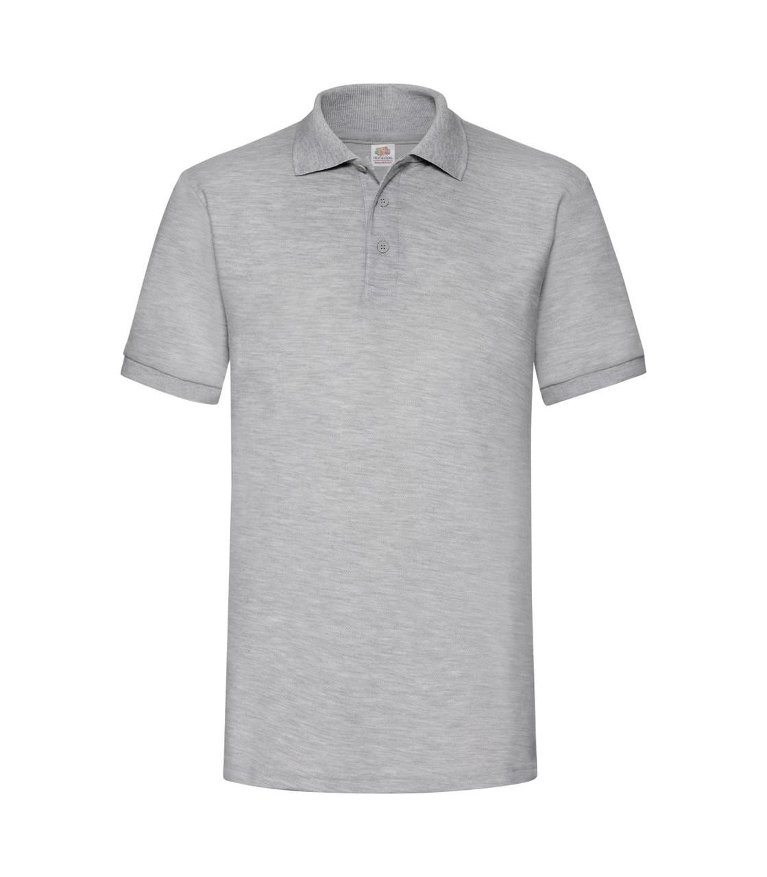 Мужская футболка поло плотная светло-серая 204-94