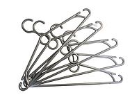 Плічка, тремпель, вішалка з кільцем виробник Marc-Th колір сріблястий / 10 шт. комплект