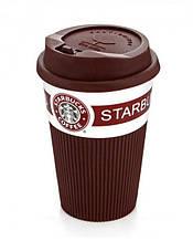 Кружка Старбакс Starbucks керамическая,Коричневая, термокружка, Термокружки