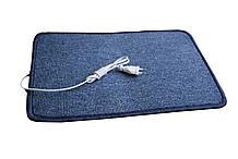 Электро-коврик с подогревом (синий, закругленные углы 50 x 33 см) электрический Трио 01502, Коврики с