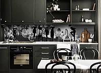 Кухонный фартук Вдохновение (виниловая наклейка скинали ПВХ) девушки лампочки Абстракция Серый 600*2500 мм, фото 1