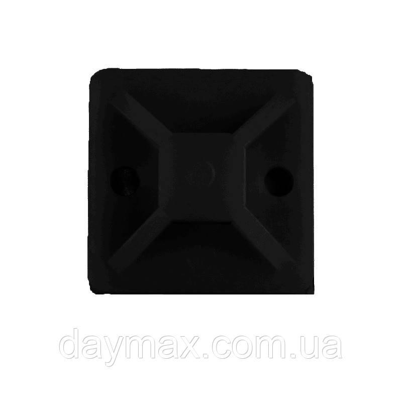ElectroHouse Майданчик самоклеючий 20х20 мм чорний нейлон