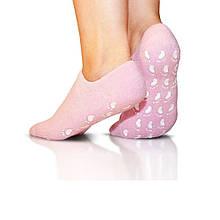 Спа гелевые носочки для педикюра c маслом жожоба Spa Gel Socks увлажняющие носки для ног, Розовые, Косметика и