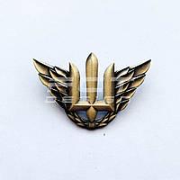 Беретный знак военно-воздушных сил Украины/ Кокарда повітряних сил латунная
