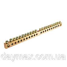 Шина нулевая 6х9 мм² 24/1 (1 отверстие)