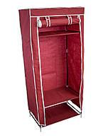Тканевый шкаф, бордовый, односекторный, портативный шкаф для одежды, Складные тканевые шкафы