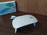 Лампа для ногтей LED UV маникюра Сушка ультрафиолетовая Sun mini 6W, фото 8