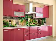 Кухонный фартук Зеленый Прованс (виниловая наклейка скинали ПВХ) Архитектура город Бежевый 600*2500 мм, фото 1