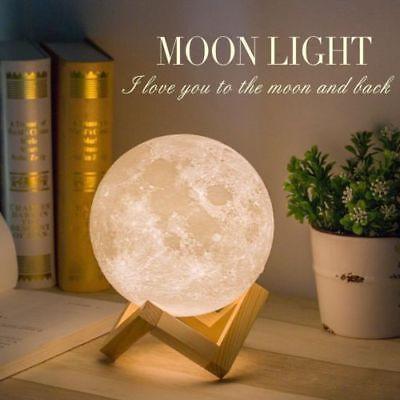 Настольный светильник ночник Луна, Лампа 3D Moon Lamp, 3D светильник, Светильники для дома