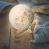 Настольный светильник ночник Луна, Лампа 3D Moon Lamp, 3D светильник, Светильники для дома , фото 2