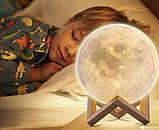 Настольный светильник ночник Луна, Лампа 3D Moon Lamp, 3D светильник, Светильники для дома , фото 5