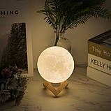Настольный светильник ночник Луна, Лампа 3D Moon Lamp, 3D светильник, Светильники для дома , фото 6