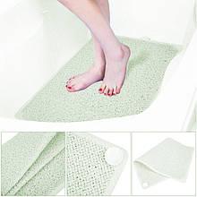 Противоскользящий коврик для ванной комнаты AquaRug, антискользящий ковер на присосках в ванную, Аксессуары
