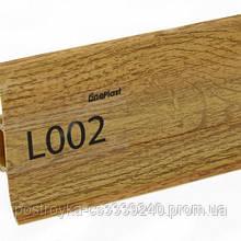 Плинтус напольный пластиковый LinePlast L002 Орех грецкий c центральным кабель-каналом