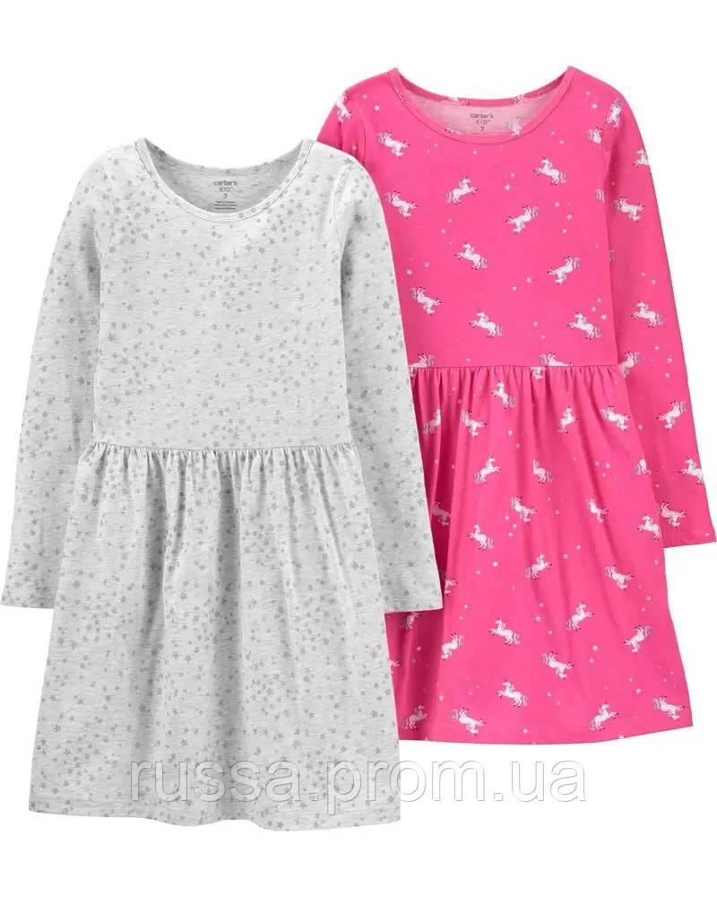 Красивое платье с длинным рукавом Картерс для девочки (поштучно)