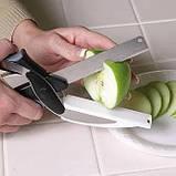 Универсальные кухонные ножницы Clever cutter, Нож-ножницы 3 в 1, Умный кухонный нож, Товары для кухни, фото 10