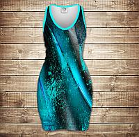 Платье-майка с 3D принтом Blue Dark