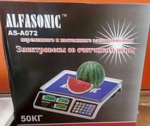 Весы торговые ALFASONIC AS-A072 50кг, Весы торговые