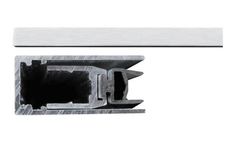 Порог Comaglio 420 алюминиевый с резиновой вставкой 83-63 мм блистер (Италия)