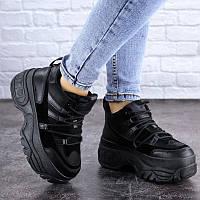 Стильные женские кроссовки Cujo на платформе черные