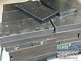 Техпластина (ЛОПАТУ) на Відвал / Скребки гумові для снігоприбиральної техніки 500х500х40мм, фото 2