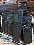 Техпластина (ЛОПАТУ) на Відвал / Скребки гумові для снігоприбиральної техніки 500х500х40мм, фото 4
