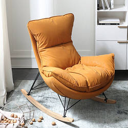 Мягкое кресло-качалка с металлической опорой. Модель RD-9235